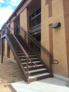 Commercial Steel Stair And Mesh Panel Railing System For Kirtland Air Force  Base,New Mexico