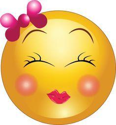 Cute Girl Smiley Faces | Cute Shy Girl Smiley Emoticon Clipart - Royalty Free Public Domain ...