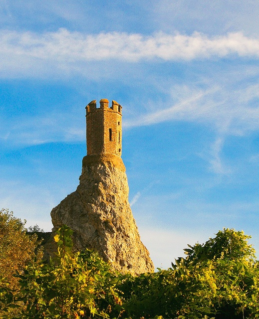 Lone tower - Devin Castle, Slovakia