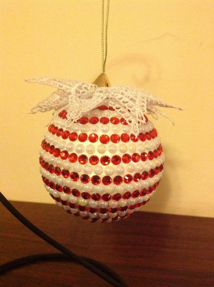 Palla di Natale interamente in strass