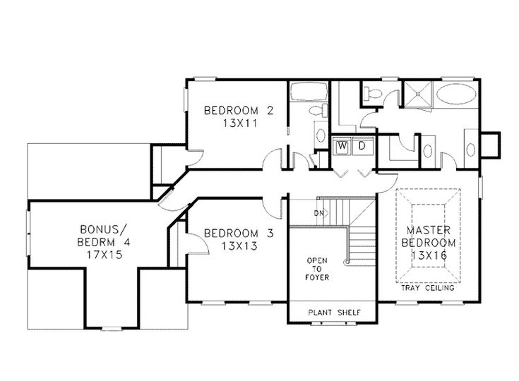 modern two story house plans second floor four bedrooms houseplan - Modern Family House Plans