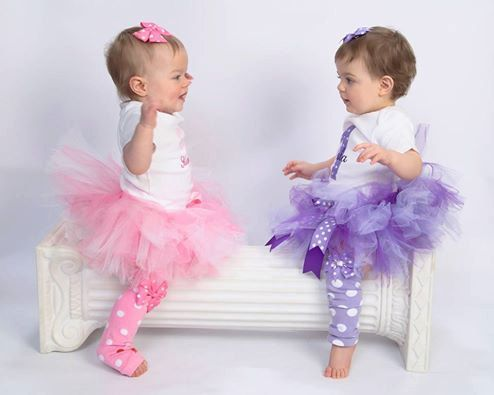 Twin Girl Birthday Tutu Sets  Baby Girl by ChristiCreations