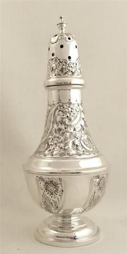 Antique Hallmarked Sterling Silver Walker Hall Sugar Caster Shaker 1905