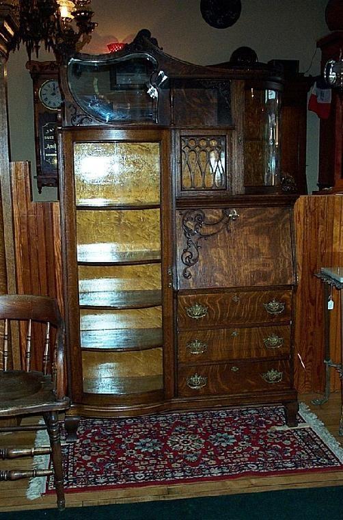 ORNATE QUARTER SAWN OAK SIDE BY SIDE SECRETARY & BOOKCASE TROTTER ANTIQUE  LIGHTING - 80 Best Antique Quarter Sawn Oak Furniture Images On Pinterest