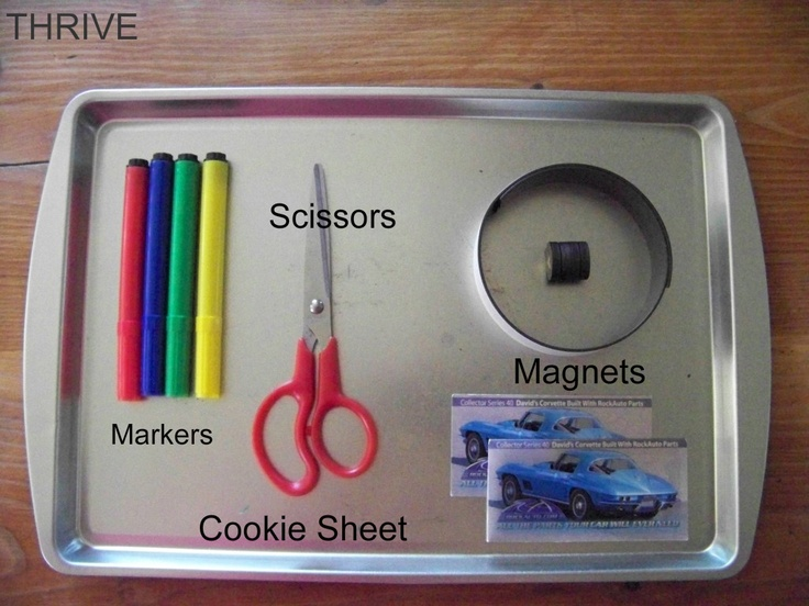 Make your own magnetic travel games