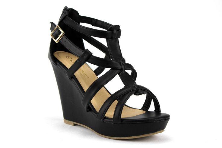 Women's Iynx Gladiator Wedge Sandals Fay Black