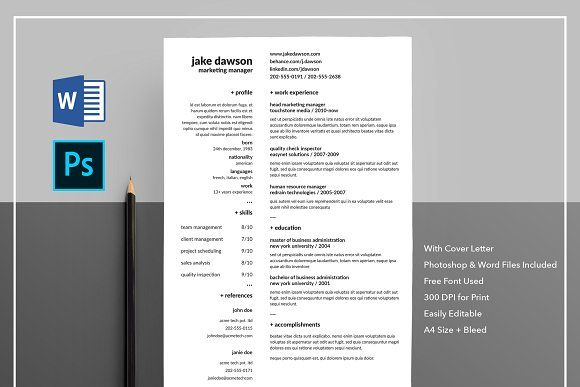 Resume/CV with Cover Letter @creativework247