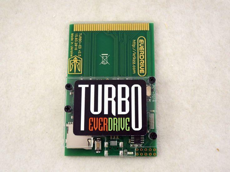 New Turbo Everdrive for TurboGrafx-16 (Official Krikzz) & PC Engine US Seller