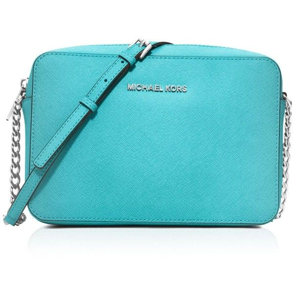 Michael Michael Kors Large East West Crossbody ($148) ❤ liked on Polyvore featuring bags, handbags, shoulder bags, aquamarine, cross body, michael michael kors crossbody, michael michael kors, crossbody handbags и blue crossbody purse