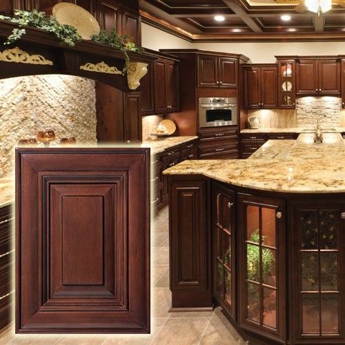 Cheapest Kitchen Cabinets Online: Bristol Chocolate Cabinets. Very Elegant Finish