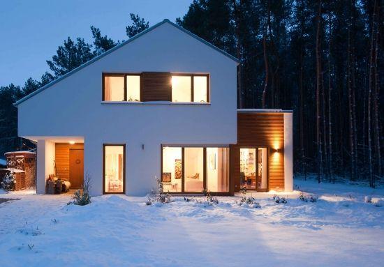 projekt modernes einfamilienhaus competitionline satteldach haus pinterest. Black Bedroom Furniture Sets. Home Design Ideas
