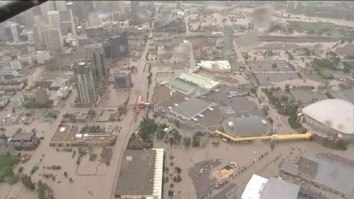 Raw Video:  Downtown Calgary flooding | Global News Video