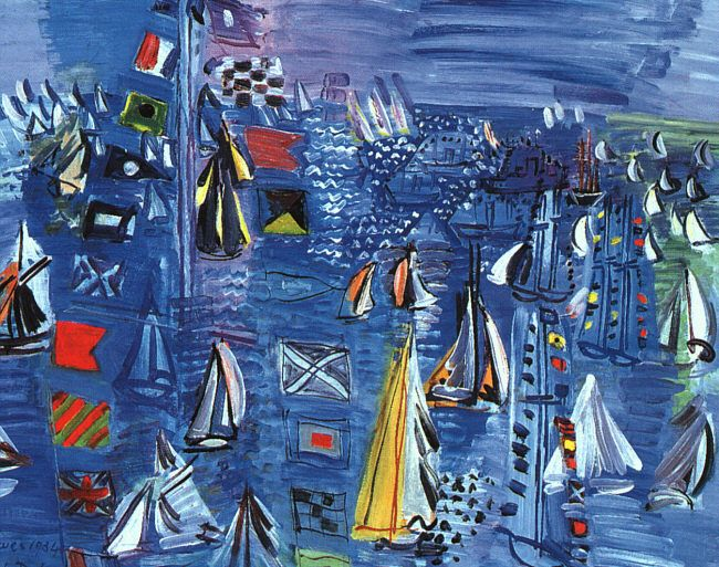 Raoul Dufy, Regatta at Cowes, (1934), Washington, D.C. National Gallery of Art. via Wikipedia