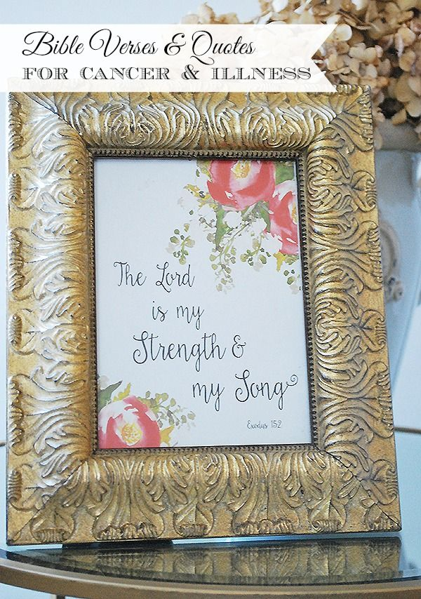 printable bible verses for loss sickness or cancer and