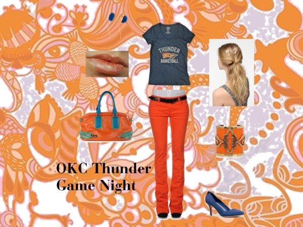 """""""Thunder game night with my daughter!"""" by tuscandreams on Polyvore"""