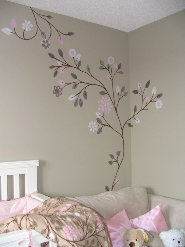 Simple Bedroom Mural To Match Bedding Part 63