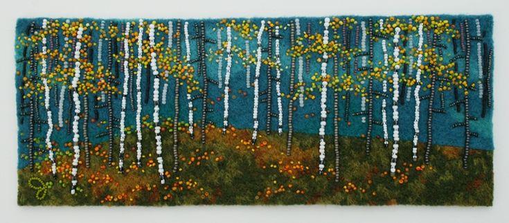 Joe Wood beat artist - Large photo of Autumn Birch