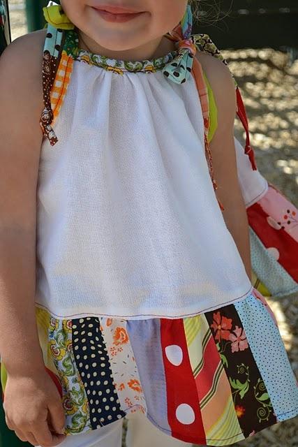 vestido de retalhos para minha sobrinha amada