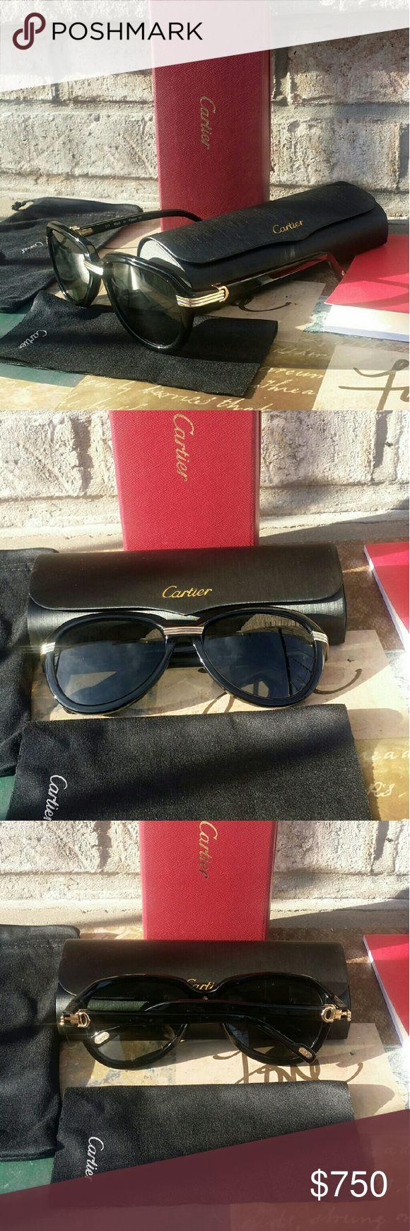 Cartier Unisex  Luxury Sunglasses Cartier Unisex  Luxury Sunglasses Cartier Accessories Glasses