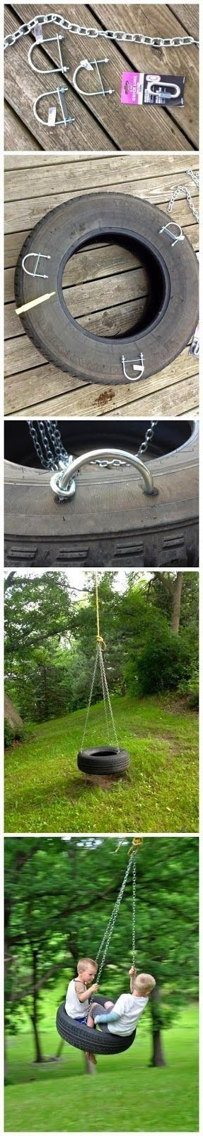 Tire swing pictorial