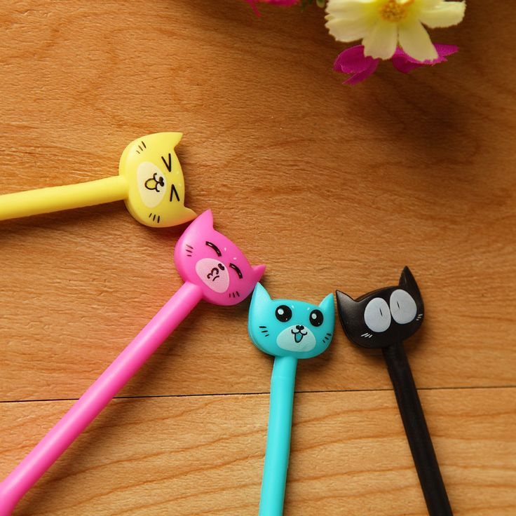 Salute the creative gift creative high-grade cute little kitty bend soft pen wholesale office supplies pens for writing cat pen