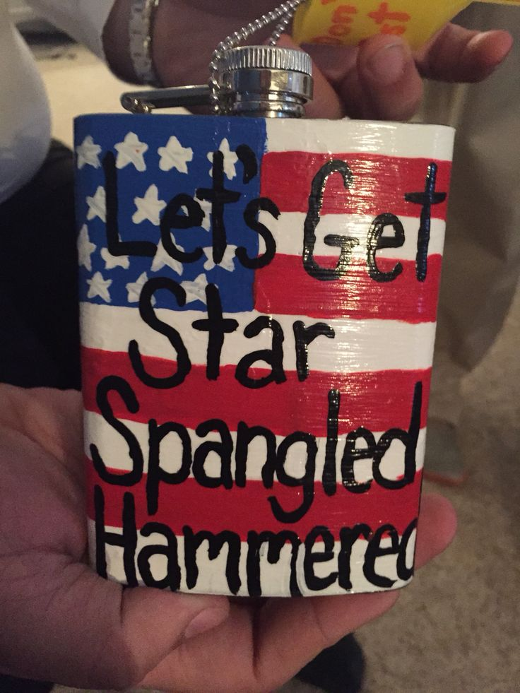 Flask i painted for my date! #Flask #AmericanFlag