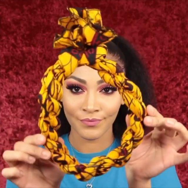 nappyme Vidéo   Chignons nattes, Coiffure avec foulard, Natte cheveux