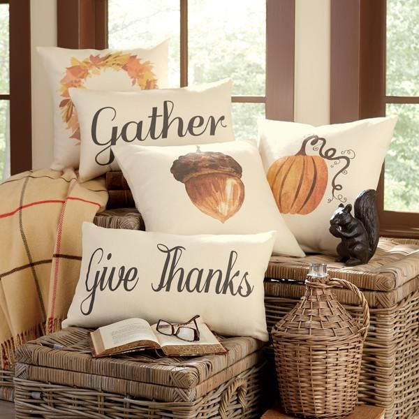 Autumn Pillow Covers | Celebrate the harvest season with these festive pillows, full of rustic charm.