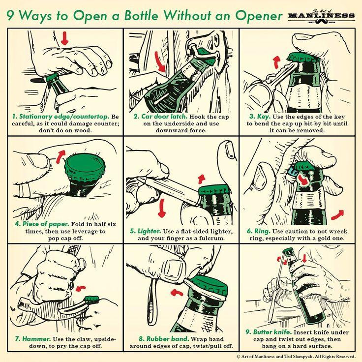 9 façons d'ouvrir sa bouteille de bière