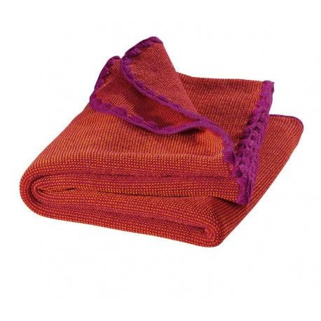 Baby blanket wool, berry cerise, 100x80cm, Disana