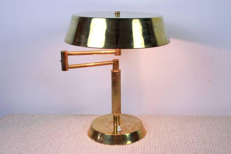 Латунь Настольная лампа после Джио Понти 5