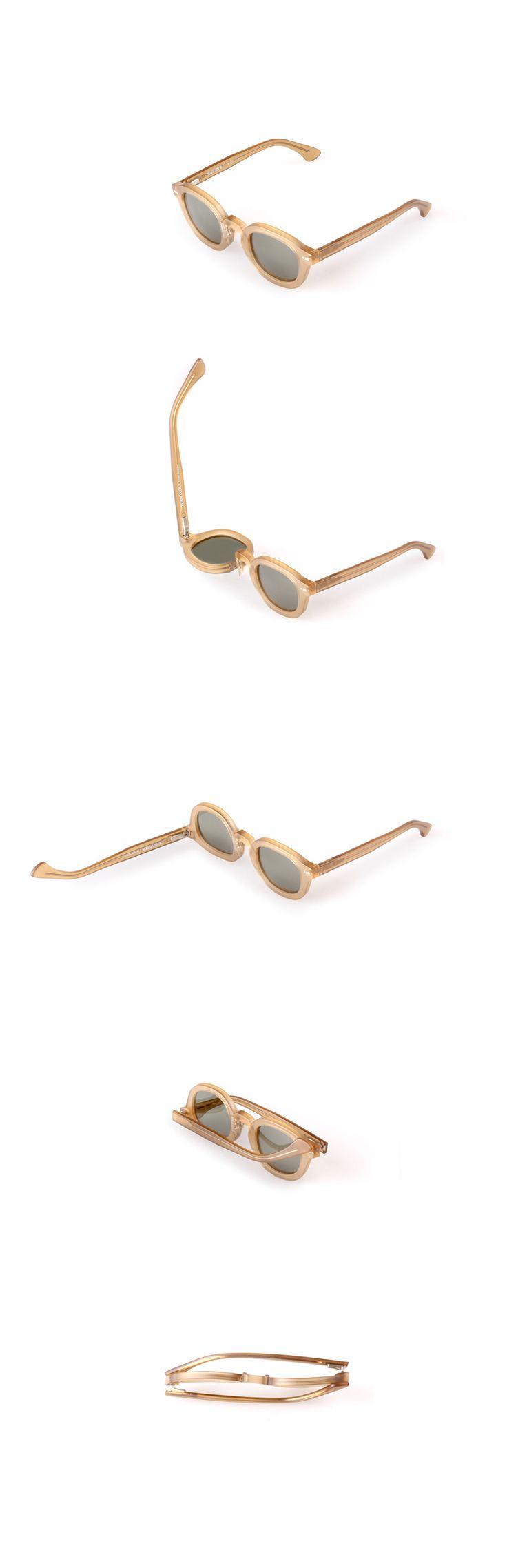 Movitra 115 - Cristallo miele con lente verde #sunglasses #movitra #movitraspectacles #spectacles #glasses #eyewear