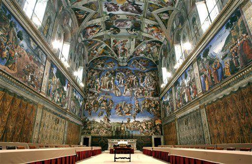 Sistine Chapel turns 500 years old. #art #history