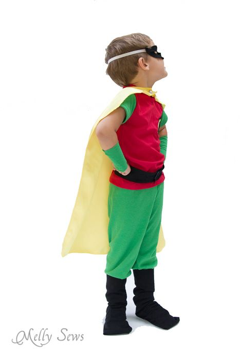 Robin costume for boys - Batman and Robin - Melly Sews