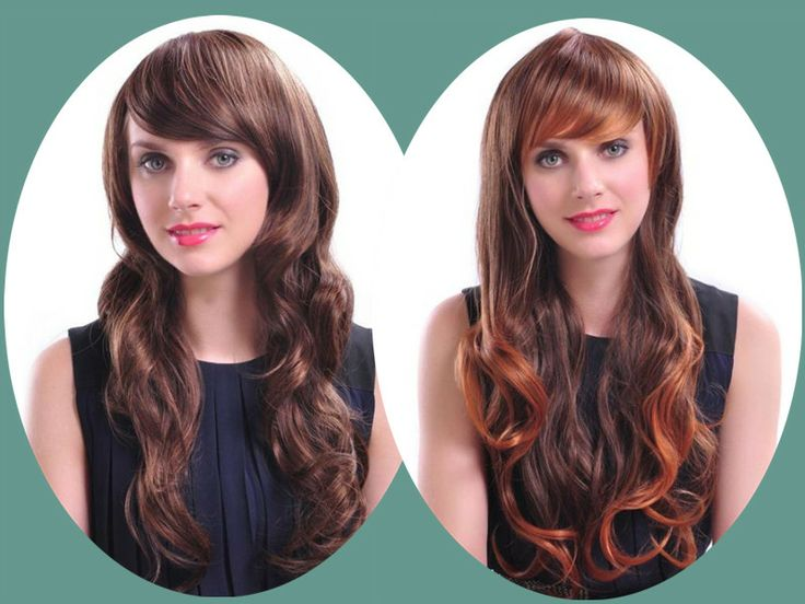 before after hair styles with clip in extensions #ombre #highlights
