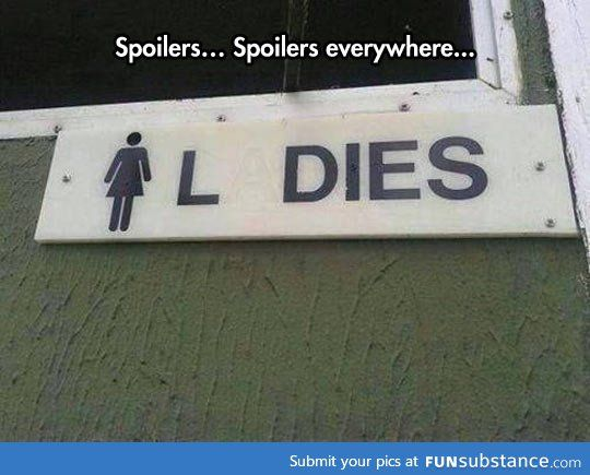 Can go anywhere without bumping into spoilers