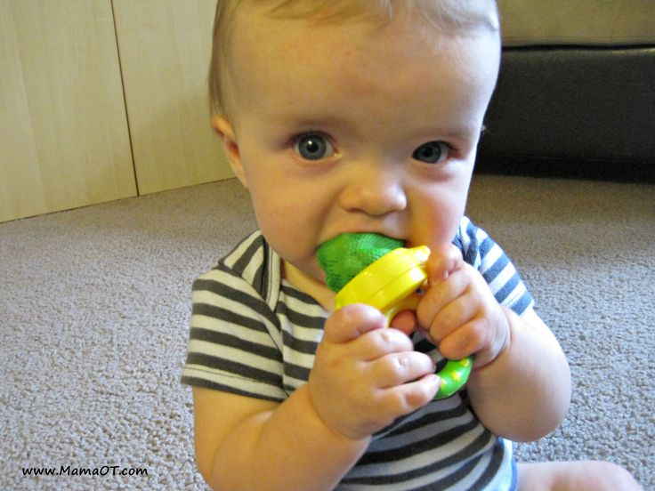 Mesh fresh food feeders are great for introducing baby to solids or helping with teething pain.