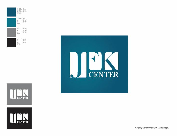 JFK Center logo, by Gregory Kustanovich.