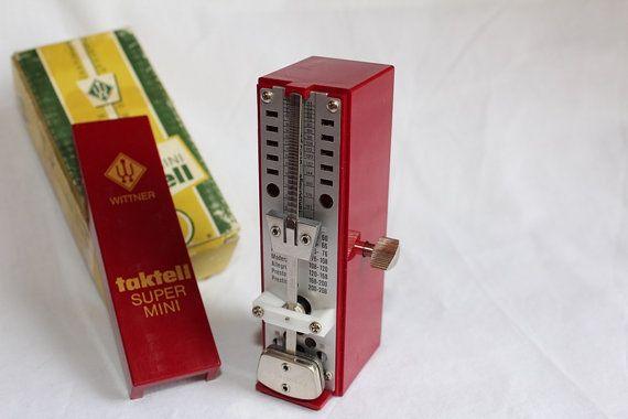 Wittner Super-Mini Taktell Metronome by AtticEsoterica on Etsy