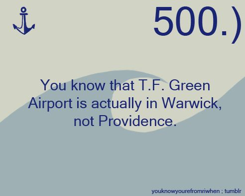 Ugh! I hate when they say 'Welcome to Providence'  It's Warwick, damn it