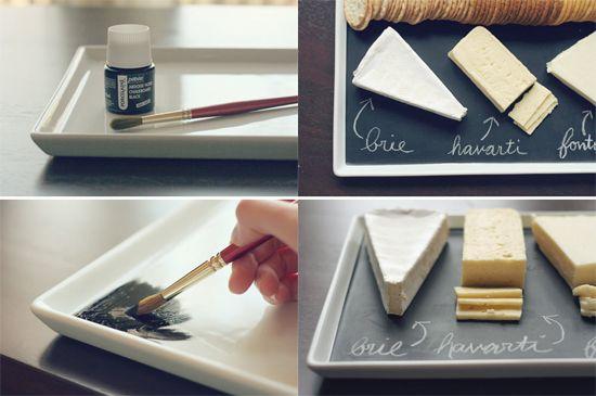 Personaliza tus regalos con pintura pizarra