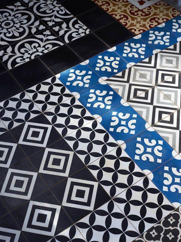 Patchwork pattern tiles #interiors via @dcwdesign blog