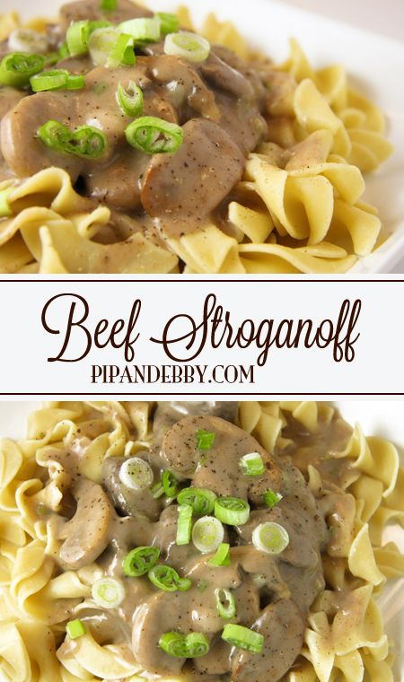 Beef Stroganoff | This is one of my favorite dinner recipes of all time!