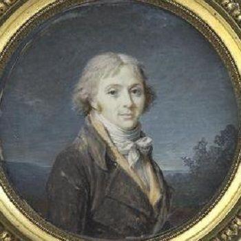 Marie Gabrielle Capet - Portrait d'homme en habit brun et gilet jaune clair