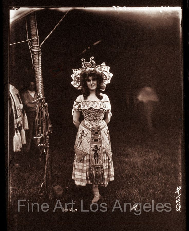 """Fred Glasier Photo, """"Circus Woman with Egyptian Decoration"""", 1890-1925"""