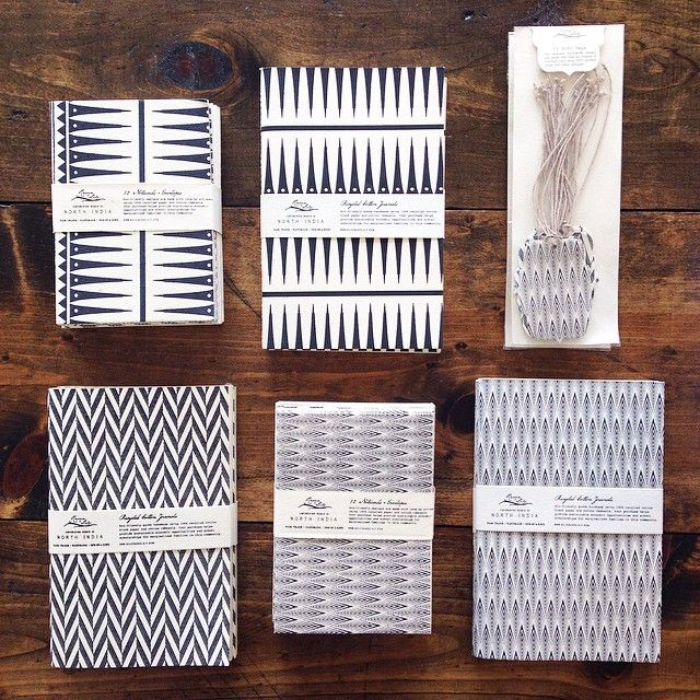 Our black and white paper collection is made with recycled paper by women artisans in India. Stock up on these classic prints! #earthdayapproved