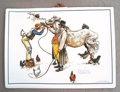 Vintage Norman Rockwell The Horse Trader Formcraft Vacuum Form Print