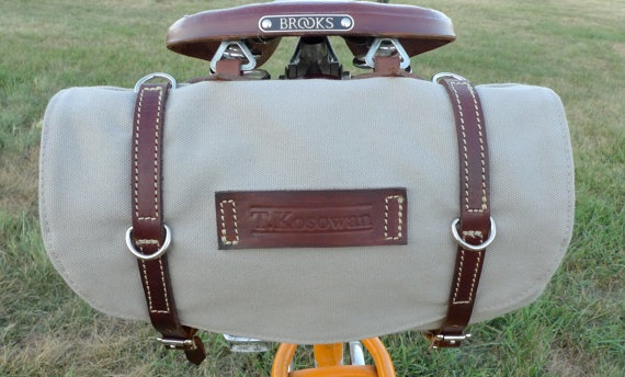 Classic Vintage Style Bicycle Bag Grey and Brown by snootsie,: Bicycles, Brown, Classic Vintage, Bike Bags, Vintage Style