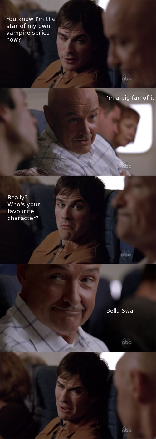 hahaahha!!! :D I love them both! LOST was SUCHHH a good show. Ultimate fave!