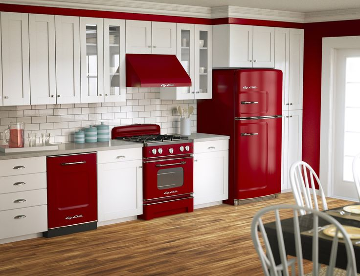 65 best what a chill color cherry red images on pinterest - Red kitchen appliances ...
